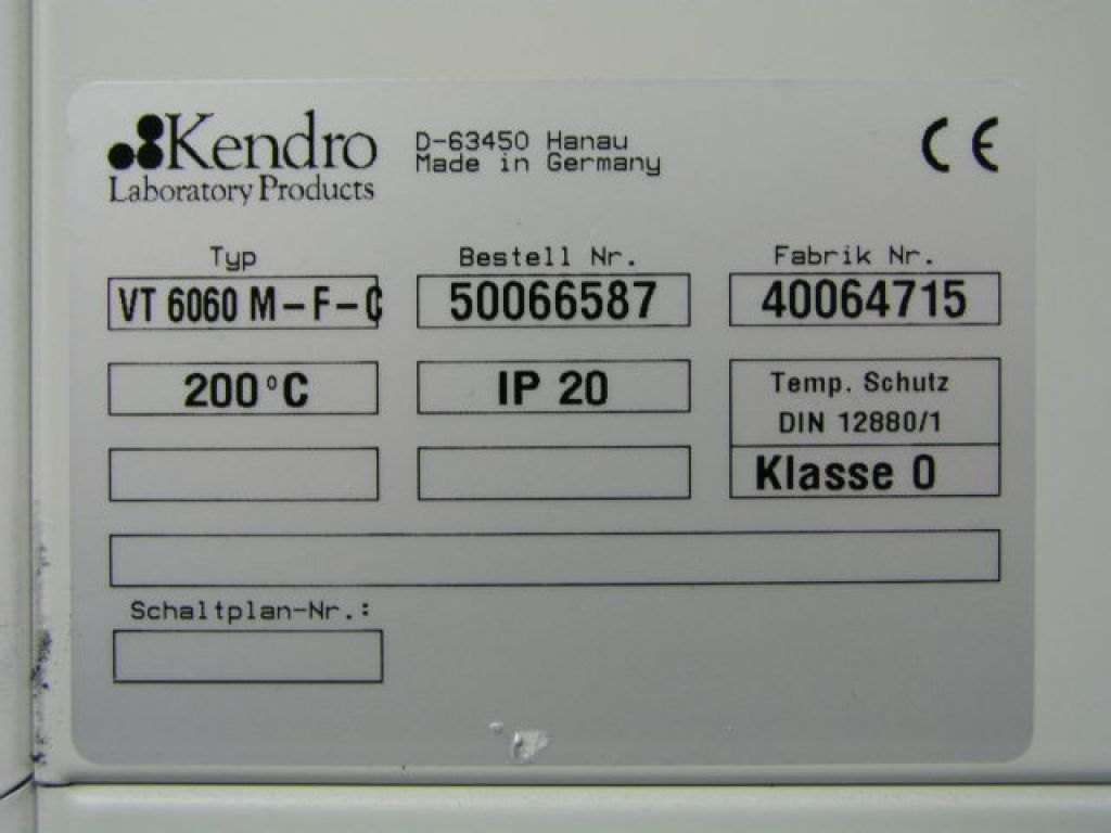 labstuff.eu - Heraeus Kendro VT 6060 M-F-C Vacuumoven for Ex Zone 1