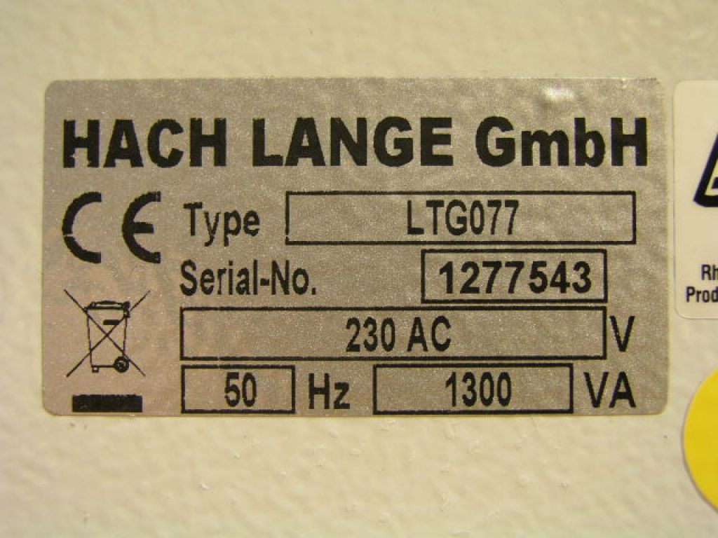 Hach Lange HT200S High temperature thermostat for fast digestions